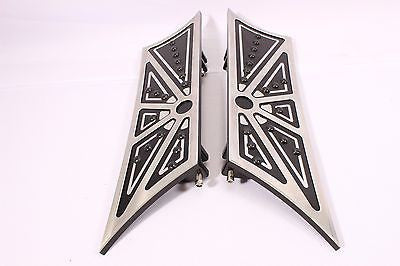 Talon Billets - Black Billet Footboard Floorboards Harley Touring Road King & Fl Softail 80-13