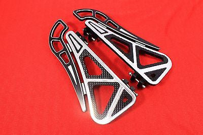 Talon Billets - Billet Foot Board Footboards Floorboards Harley Touring  Softail Road Glide