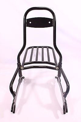 "Talon Billets - Y59+R BLACK 22"" QUICK RELEASE PASSENGER BACKREST RACK INDIAN CHIEF CLASSIC VINTAGE 14-18"