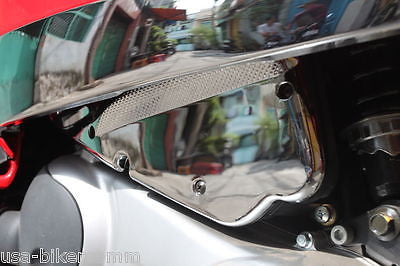 VESPA LX 50 125 150 LX50 LX125 LX150 AIR BOX COVER RAILS RACK TRIM CHROME COVER