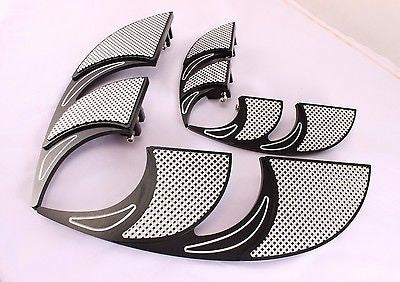 Talon Billets - Billet Foot Board Footboards & Passenger Floorboards Harley Touring  Softail Fl