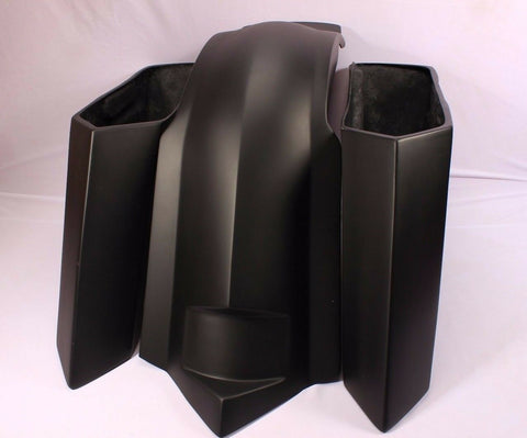 "Talon Billets - 6"" HARLEY  EXTENDED STRETCHED SADDLEBAGS FENDER LIDS TOURING GLIDE ROAD FIBERGLA"