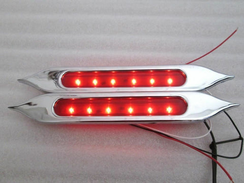 "Talon Billets - BAGGER 9"" TAILLIGHTS LIGHTS BLINKERS TAIL LIGHT FENDER  BRAKE SIGNAL SADDLEBAGS"