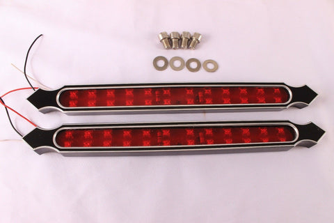 "Talon Billets - 12"" Bagger Harley Touring Road king Softail light Led Fender CNC ANODIZED"