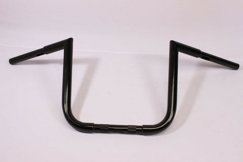"Talon Billets - BLACK APE HANGER HANDLEBAR 12"" For 98-04 Suzuki VS800 VS1400 INTRUDER FAT 1.25"""