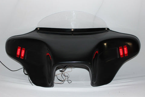 Talon Billets - Harley Batwing Fairing Windshield Led Touring Road King Glide Street Ultra Glide
