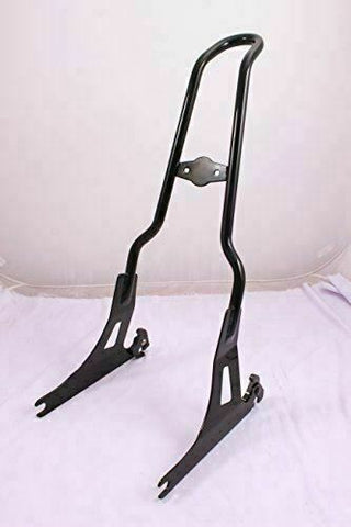 Talon Billets - TALL BLACK BACKREST SISSY BAR 4 HARLEY DYNA SUPER GLIDE STREET BOB LOW CUSTOM