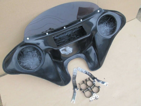 "Talon Billets - BATWING FAIRING WINDSHIELD 4 SUZUKI VS 1400 Intruder 6.5"" SPEAKER HOLES"