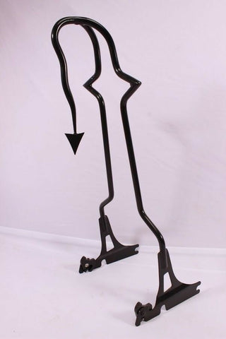 "Talon Billets - 33"" TALL BACKREST SISSY BAR UPRIGHT HARLEY MOTORCYCLE SOFTAIL FATBOY FXSTB FXSTS"