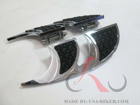 Talon Billets - FOOTPEGS FLOORBOARDS FOOTBOARDS BOARDS PEGS FOOTREST HARLEY TOURING FL SOFTAIL