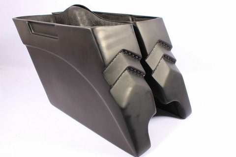 "Talon Billets - S4 NEW 4"" Stretched Extended Saddlebags TOURING HARLEY ROAD KING STREET ULTRA GLIDE FL"