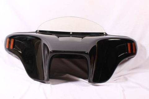 Talon Billets - PAINTED VIVID BATWING FAIRING WINDSHIELD 4 SUZUKI BOULEVARD M50 05-09 AMBER LED