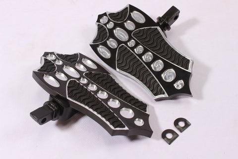 Talon Billets - REAR FOOTPEGS FOOTBOARDS FLOORBOARDS Kawasaki Vulcan 1500 1600 Mean Streak