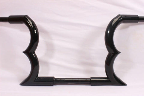 "Talon Billets - APE HANGER HANDLEBARS 14"" FOR HARLEY SPORTSTER SOFTAIL FAT BOY BLACK"