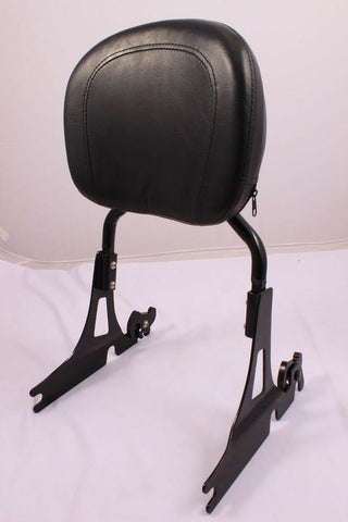 Talon Billets - Backrest Sissy Bar Pad 4 Harley Davidson Softail Fatboy Fxst Fxstb Fxsts Black