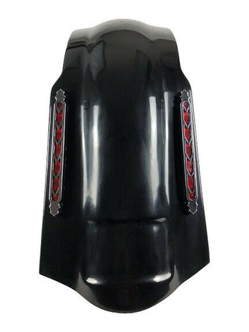 "Talon Billets - 4"" STRETCHED BAGGER EXTENDED REAR FENDER COVER 4 HARLEY TOURING ROAD KING GLIDE"