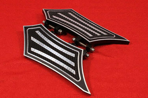 Talon Billets - FOOTPEGS FLOORBOARDS FOOTBOARDS BOARDS PEGS REST REAR HARLEY TOURING GLIDE ULTRA