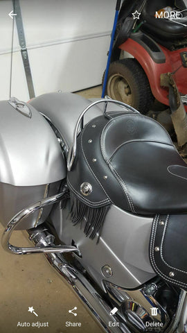 Talon Billets - Solo Rider Grab Rail Chrome Nice Seat Rail Driver 4 Indian Chief Chieftain