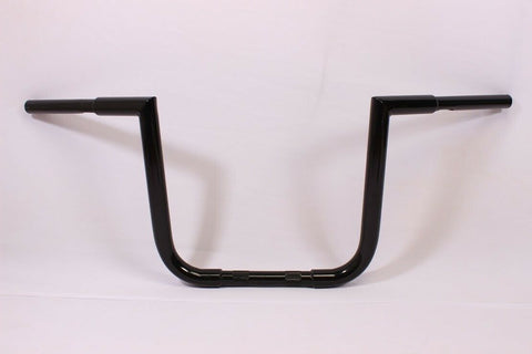 "BLACK APE HANGER HANDLEBAR 7"" 1998-2004 Suzuki VS800 VS1400 INTRUDER FAT 1.25"""