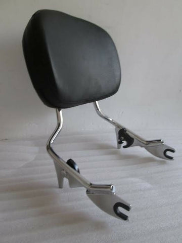 Talon Billets - BACKREST SISSY BAR 4 HARLEY TOURING ROAD KING 09-19 GLIDE STREET ELECTRA CHROME