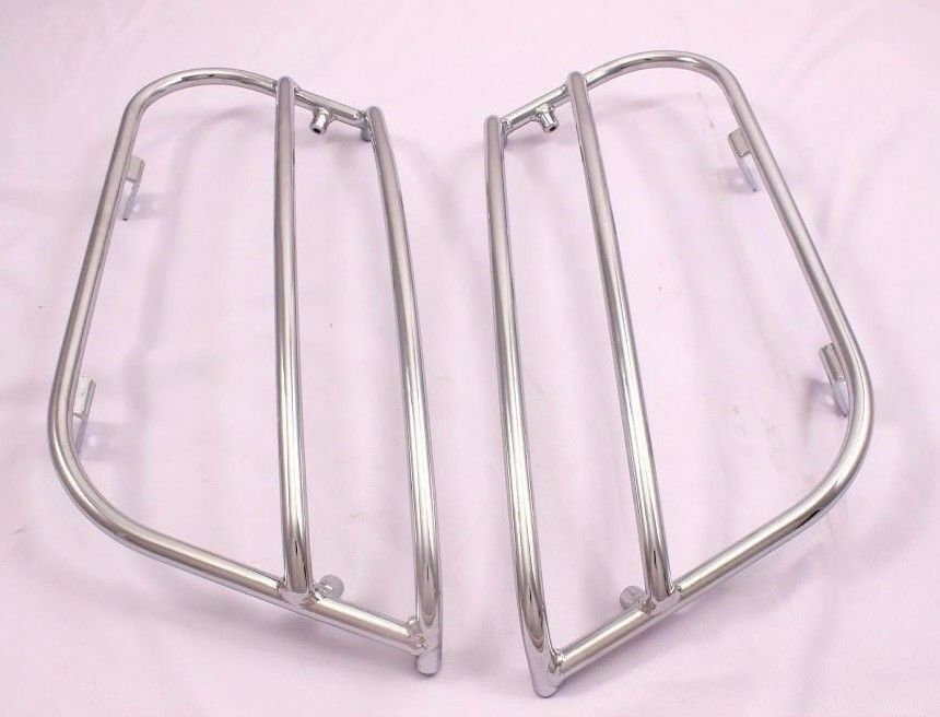 SADDLEBAGS LIDS GUARD RAILS CRASH BARS 4 HARLEY FXRT FXRD FRX USA-BIKER E68