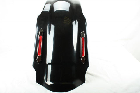 "Talon Billets - FD4 GC + LN1 4"" STRETCHED REAR FENDER COVER W LIGHT LED 4 HARLEY TOURING ROAD KING GLIDE"