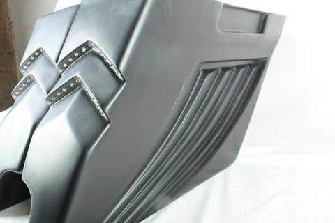 "Talon Billets - Bagger 4"" Stretched Extended Saddlebags 4 Harley Touring Softail Led Light 97-13"