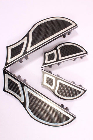 Talon Billets - Billet Foot Board Footboards + Passenger Floorboards Harley Fl Softail Fatboy