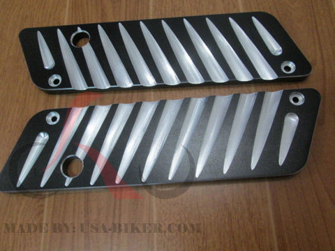 Talon Billets - Billet CNC Aluminum  Saddlebags Latch Cover Face 4 Harley Softail Fatboy 93-13