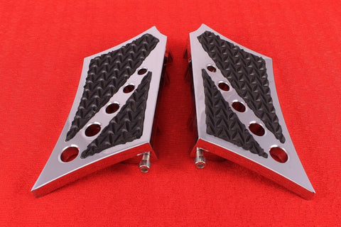 Talon Billets - Billet Rear Passenger Footboard Floorboards 4  Harley Fl Softail Heritage