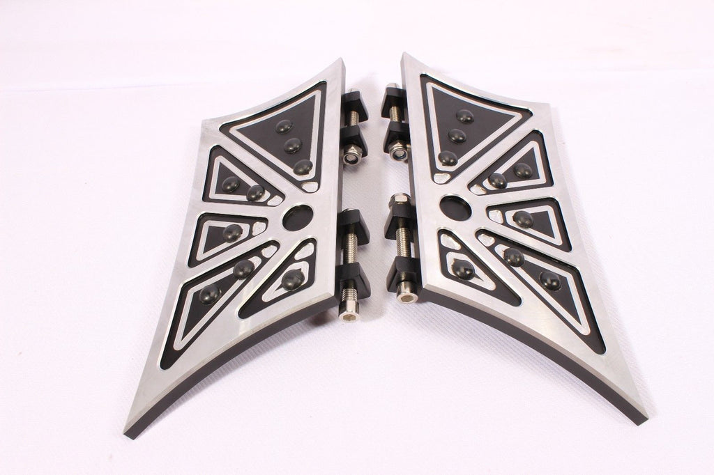 FOOTPEGS FLOORBOARDS FOOTBOARDS PEGS BOARDS REST REAR HARLEY TOURING SOFTAIL