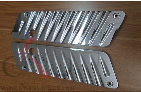 Talon Billets - Chrome Billet CNC Aluminum  Saddlebags Latch Cover Face 4 Harley Touring 93-13