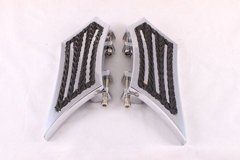 Talon Billets - Billet Foot Board Floorboards Passenger Rear 4 Harley Touring Fl Softail