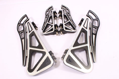 Talon Billets - FOOT BOARD FOOTBOARDS & PASSENGER FLOORBOARDS HARLEY SOFTAIL FL HERITAGE