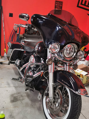 Talon Billets - Harley Batwing Fairing Windshield Touring Road King Glide Street Electra Fl Utra