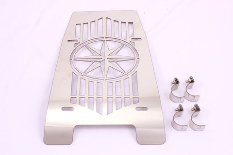 Talon Billets - FG7 ENGINE COVER GRILL GUARD 4 YAMAHA XVS 1100 XVS1100 V-STAR VSTAR C / C CHROME