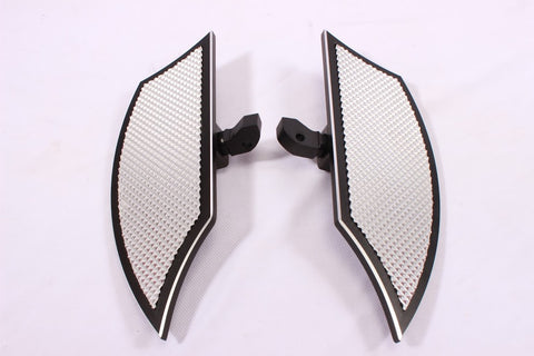 Talon Billets - REAR FOOTPEGS FOOTBOARDS FLOORBOARDS PEGS BOARD HARLEY TOURING ROAD KING STREET