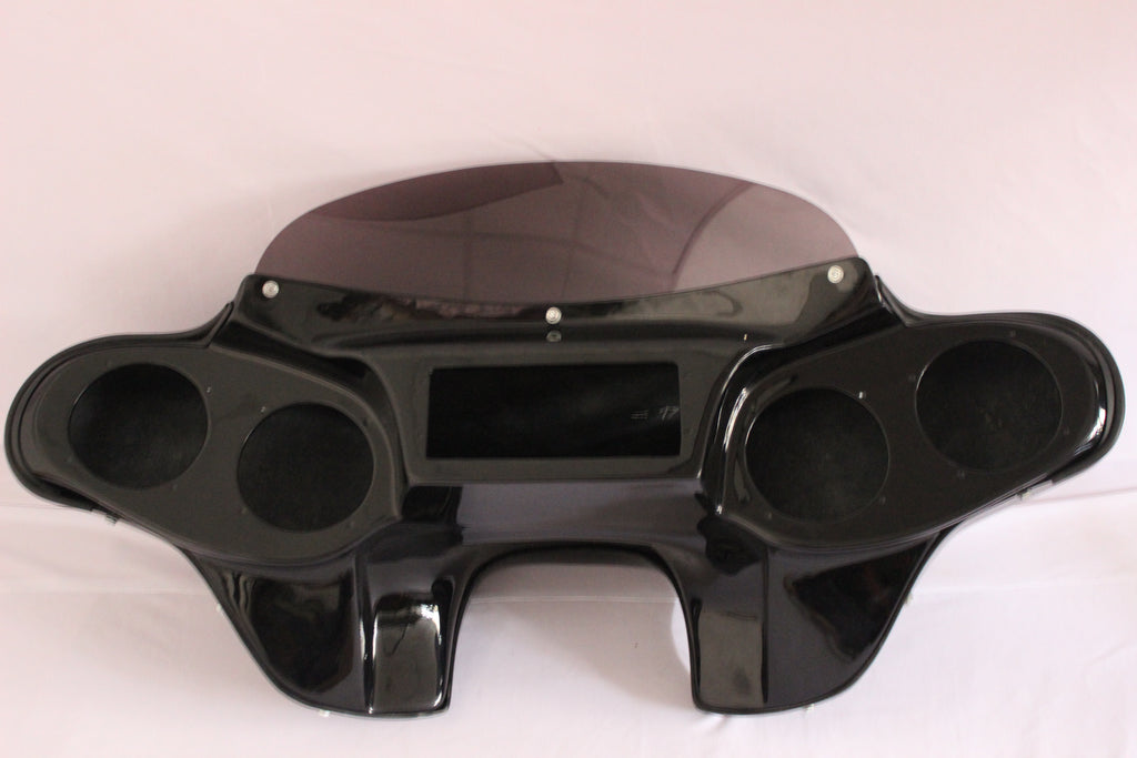 "PAINTED BATWING FAIRING WINDSHIELD FOR HARLEY TOURING Road King Classic FLHRC 4X5"" SPEAKER"