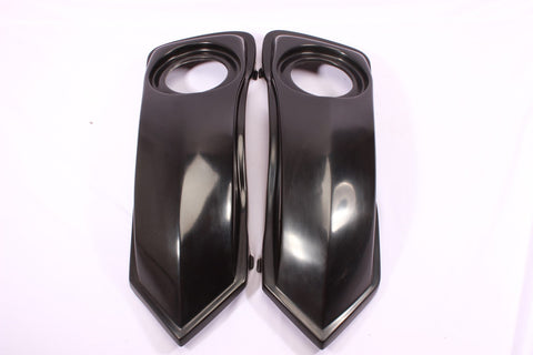 "Talon Billets - BAGGER SADDLEBAGS 6.5"" SPEAKERS Lid Touring HARLEY ROAD KING SOFTAIL SLIM 97-13"