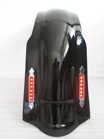 "FD1 GC+ LN1 4"" Stretched Rear FENDER COVER LED LIGHT 4 Harley Touring 97-08 NO CUT OUT"
