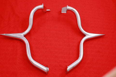 Talon Billets - C19-2 Suzuki M109R Limited Engine Case Guard Highway Crash Bar Boulevard 06-14 Bagger