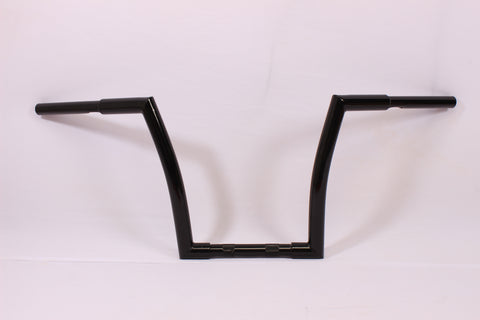 "Talon Billets - BLACK APE HANGER HANDLEBAR 11"" 1998-2004 Suzuki VS800 VS1400 INTRUDER FAT 1.25"""