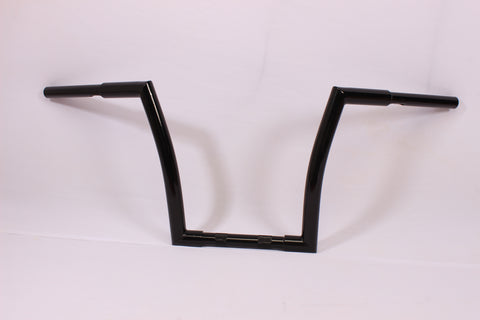 "Talon Billets - BLACK APE HANGER HANDLEBAR 9"" 07-09 Honda VT750C2 Shadow Spirit FAT 1.25"" TUBE"