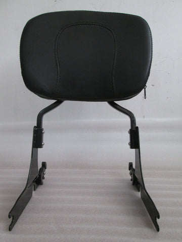 Talon Billets - Sissy Bar Backrest Pad For Harley Softail Fatboy Lo Fxst Fxstb Fxsts Black