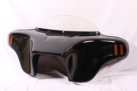 "Talon Billets - BATWING FAIRING WINDSHIELD KAWASAKI VN900 VULCAN CLASSIC LT PAINTED 4X5"" VIVID"