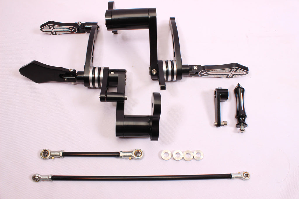 Foot pegs Forward Control Kit brake pedal 4 HARLEY SPORTSTER XL 883 1200 LOW