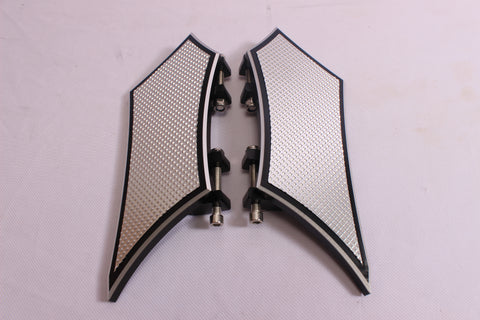 Talon Billets - Rear Passenger Billet Footboard Floorboards Harley Touring &Fl Softail 80-13
