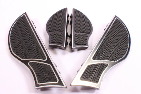 Talon Billets - Billet Foot Board Footboards & Passenger Floorboards Harley Touring Fl Softail