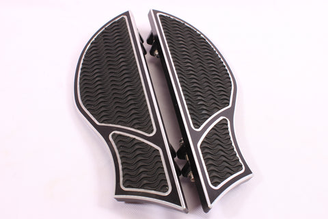 Talon Billets - Billet Footboard Floorboards Harley Touring &Fl Softail 80-13