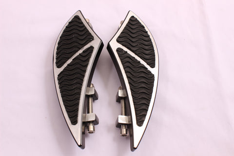 Talon Billets - Billet Foot Board Floorboards Passenger Rear 4 Harley Touring Softail Road King